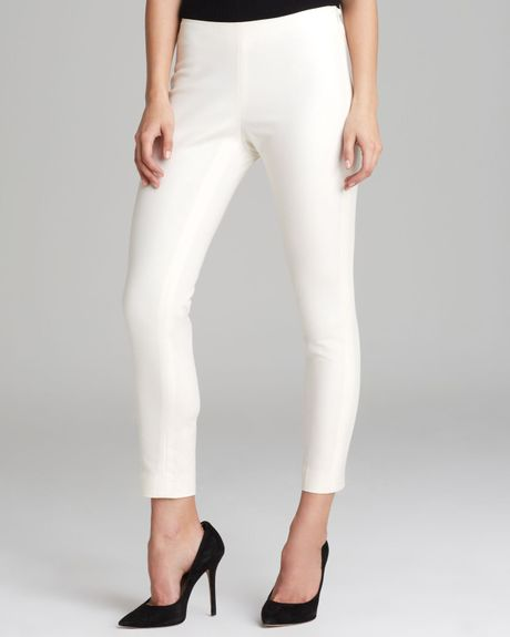 Vince Camuto Side Zip Ankle Pants In Beige New Ivory Lyst