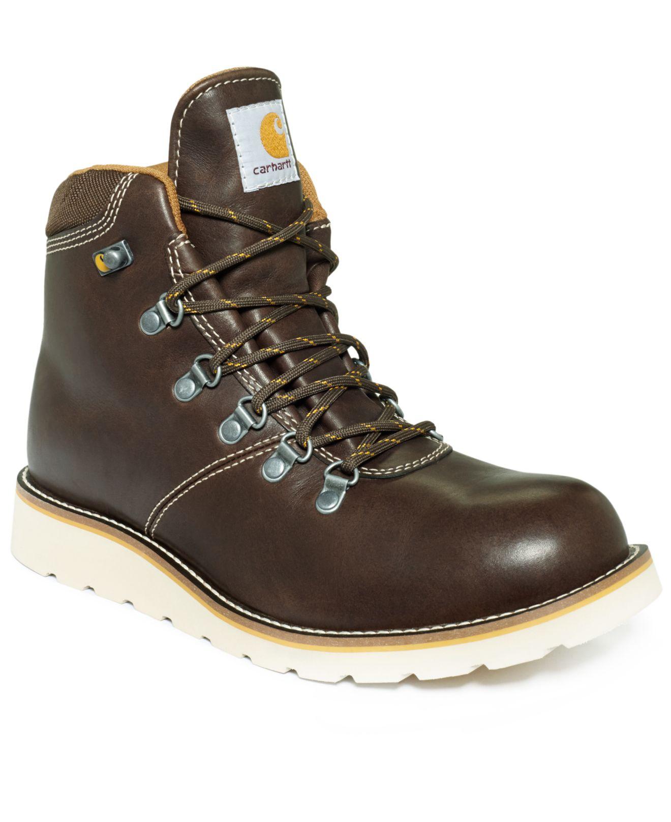 Carhartt Plain Toe 6 Inch Waterproof Wedge Boots In Brown