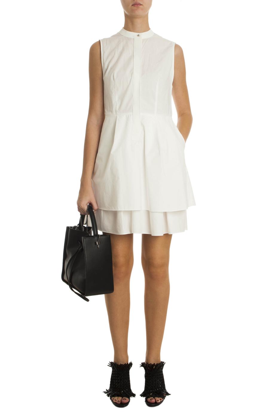 Lyst 10 Crosby Derek Lam Cotton Poplin Dress In White