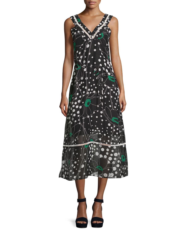 floral print midi dress - Black See By Chloé Ko63M