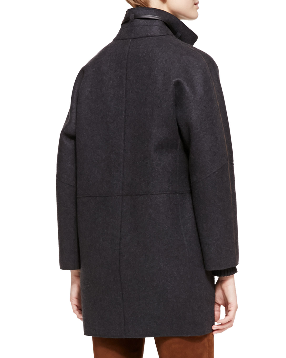 Loro piana Spencer Belted Cashmere Coat in Gray   Lyst