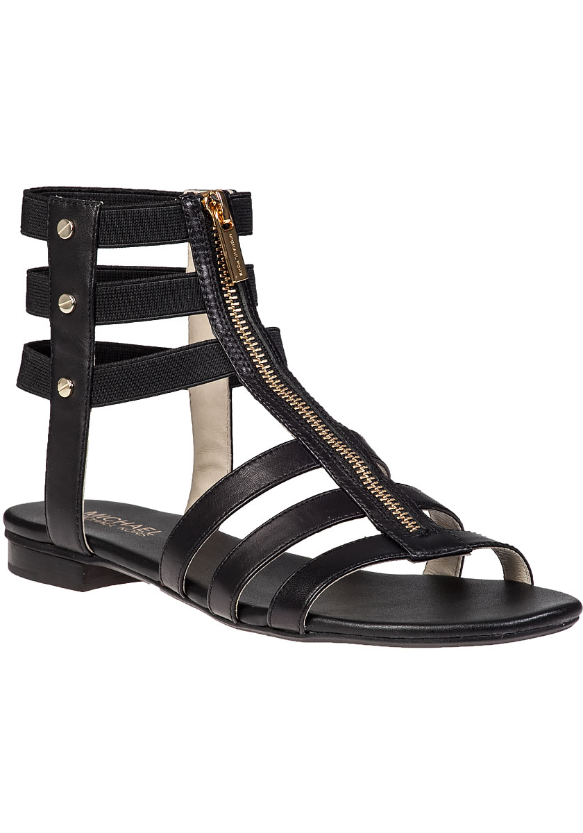 Michael Michael Kors Codie Gladiator Sandal Black Leather