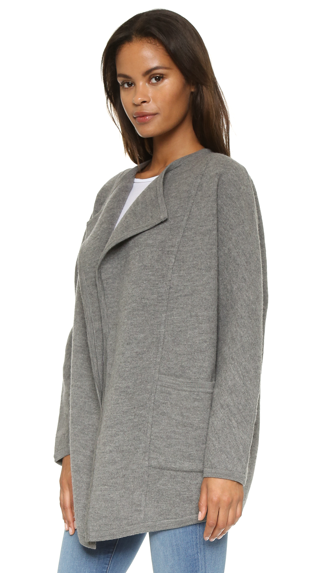 Lyst Madewell Sweater Coat Heather Grey In Gray