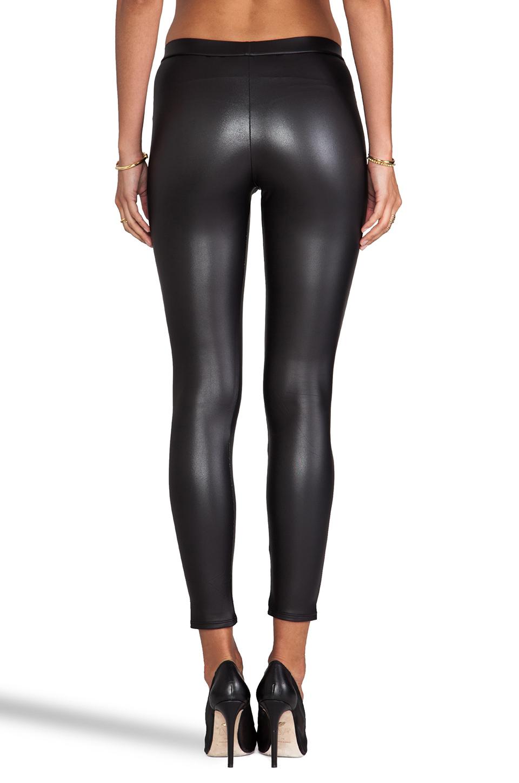 Donna Mizani Black Leatherette Legging Lyst