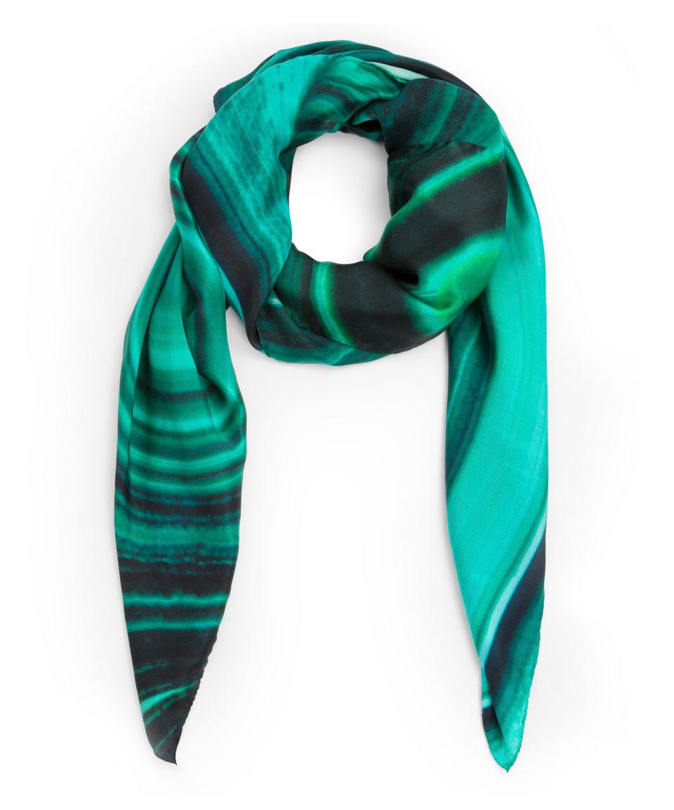 weston green may malachite birthstone silk satin scarf in