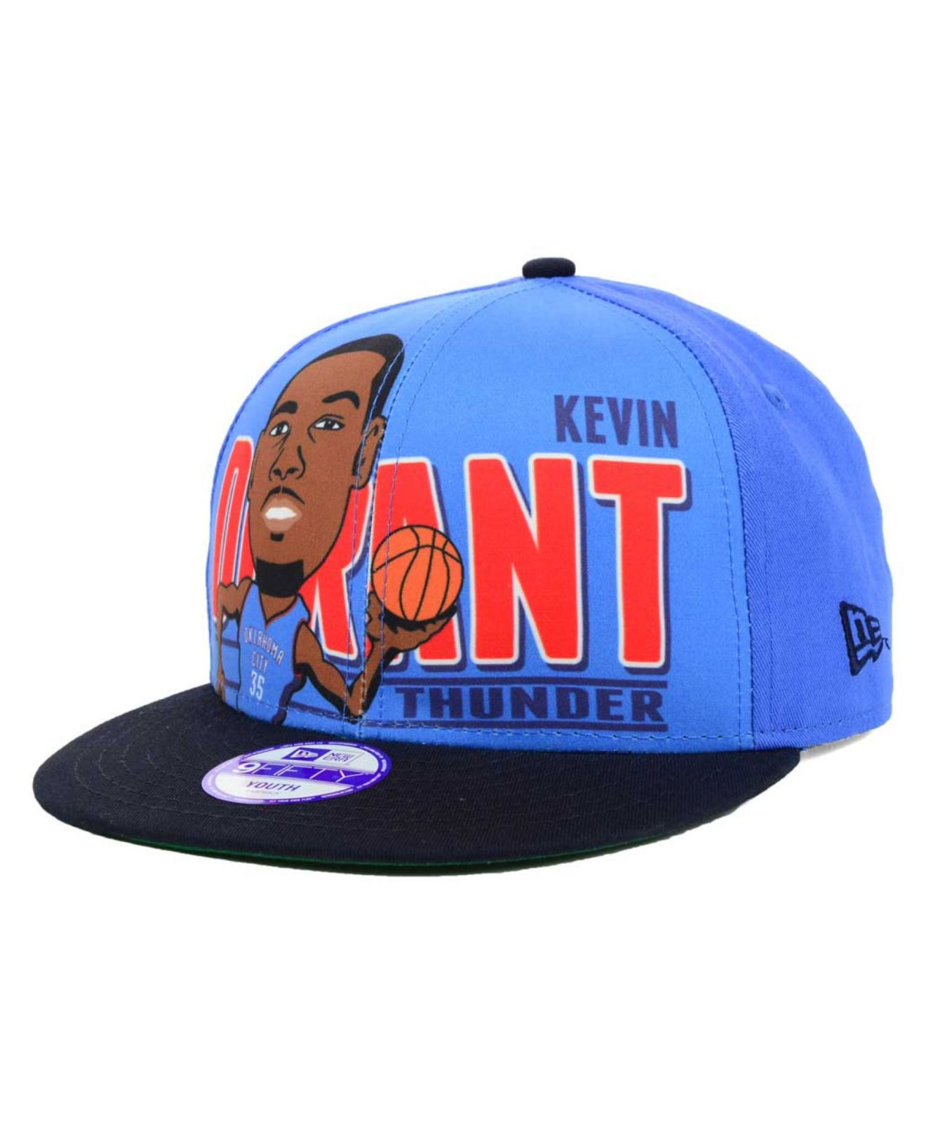 381f1855a6dc4 KTZ Kids  Kevin Durant Oklahoma City Thunder Player 9Fifty Snapback Cap in  Blue for Men - Lyst