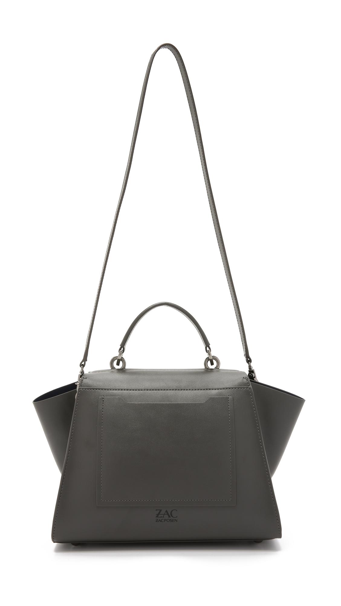 Zac Zac Posen Eartha Iconic Soft Top Handle Bag Charcoal