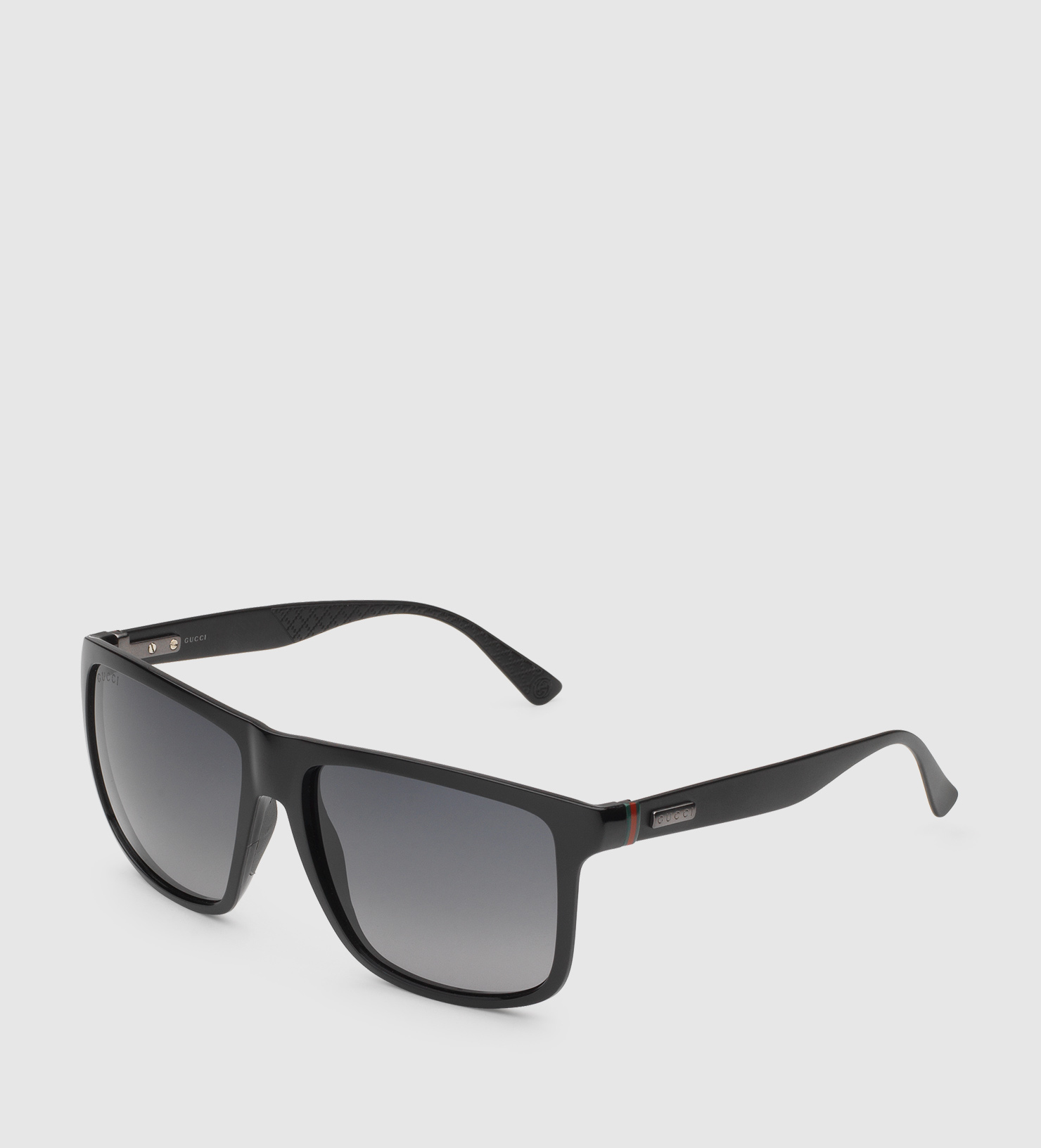 Gucci Square Sunglasses  gucci square frame aluminum and injected sunglasses in black for