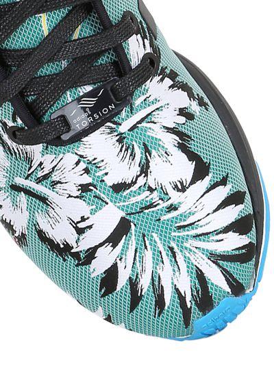9a3d616d8 adidas Originals Zx Flux Tropical Print Jacquard Sneakers - Lyst
