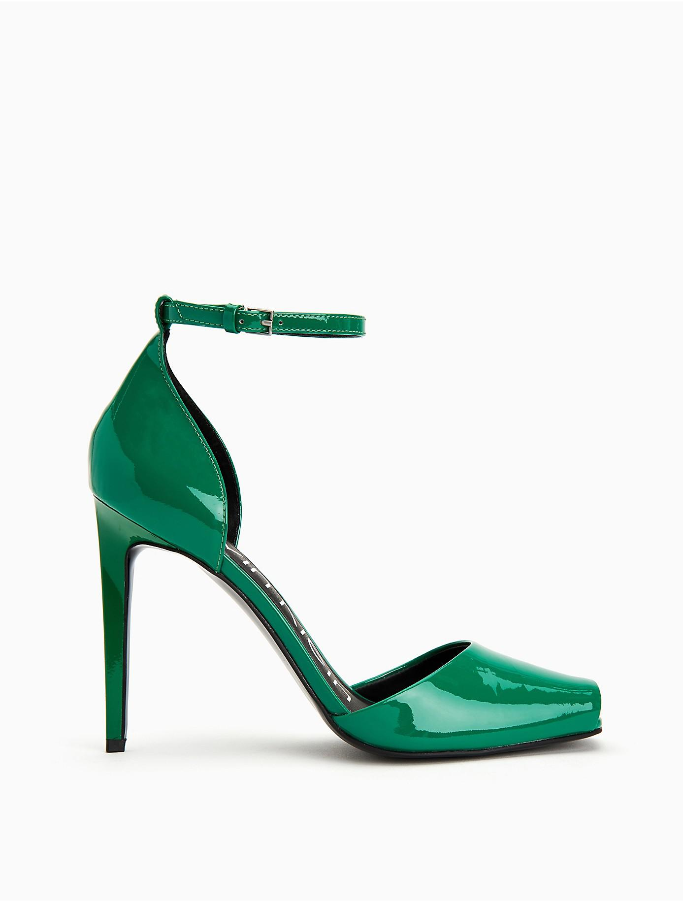 Daros Patent Leather Pump in Green