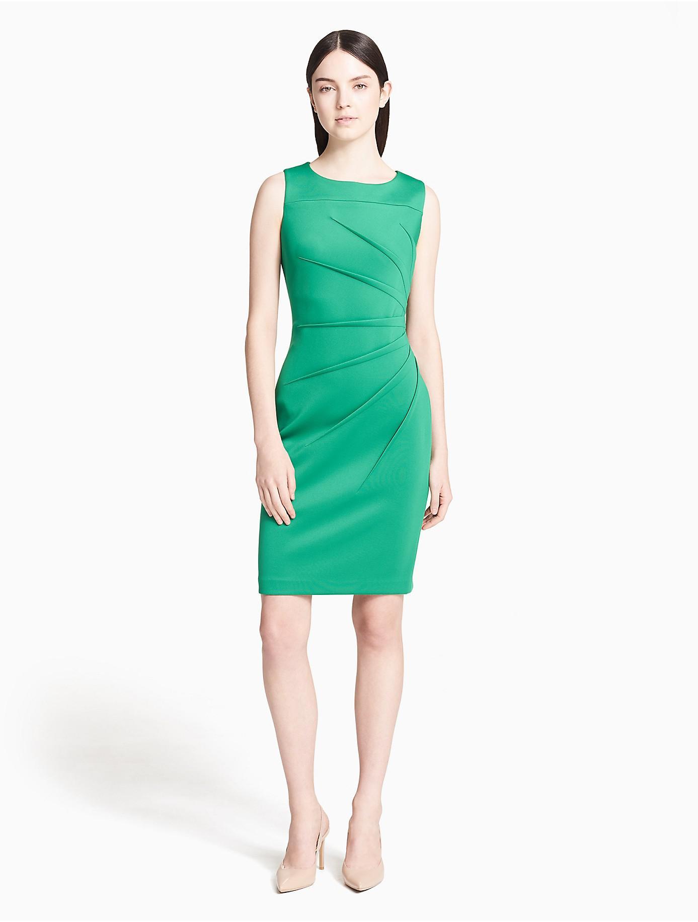 Lyst - Calvin Klein 205W39Nyc Scuba Starburst Sheath Dress in Green