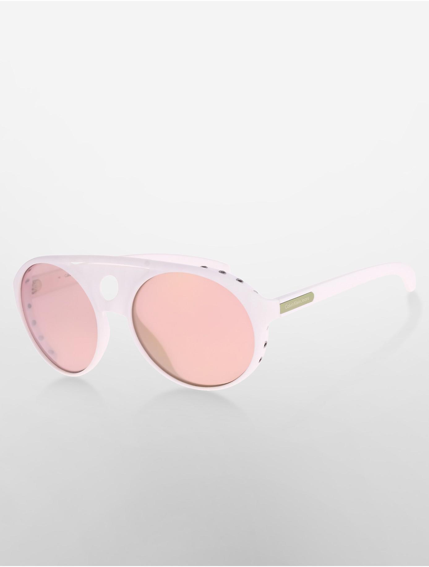 2111114dd8abd Lyst - Calvin Klein 205W39Nyc Jeans Aviator Sunglasses in White ...