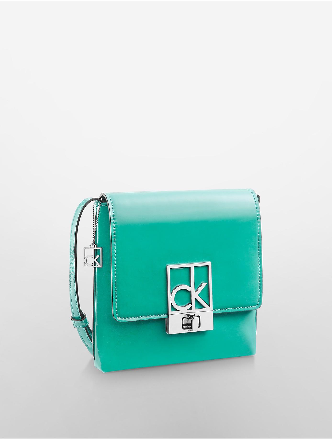 Lyst Calvin Klein Rachel Crossbody Bag In Green