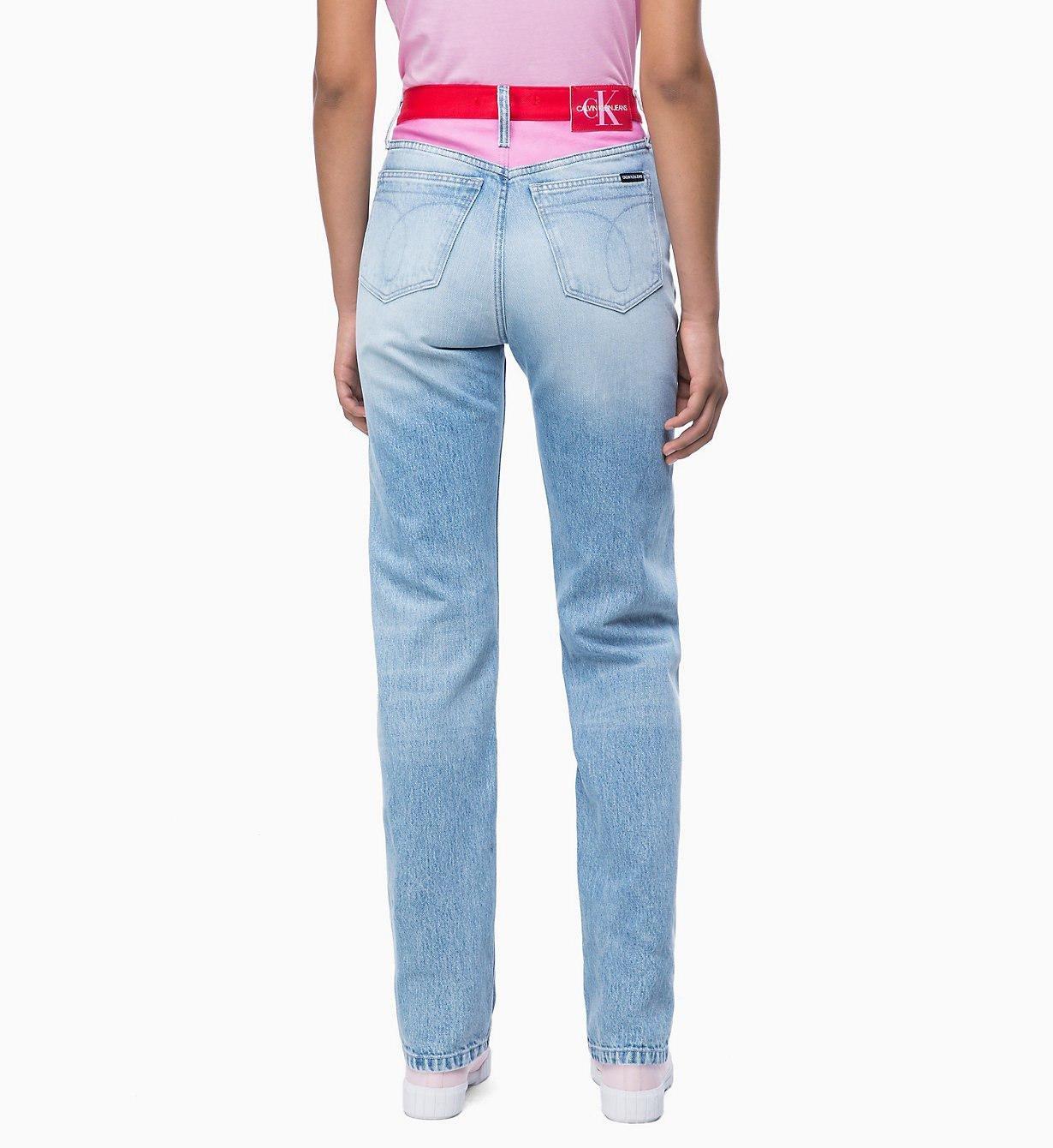 Calvin Klein - Blue Ckj 030 High Rise Straight Blocked Jeans - Lyst. View  fullscreen 1c3bf7ab42