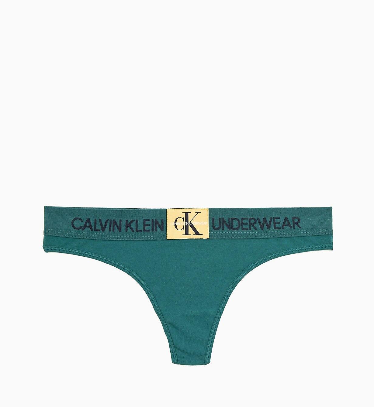 6e28ee6bdf1e Calvin Klein Thong - Monogram in Green - Lyst