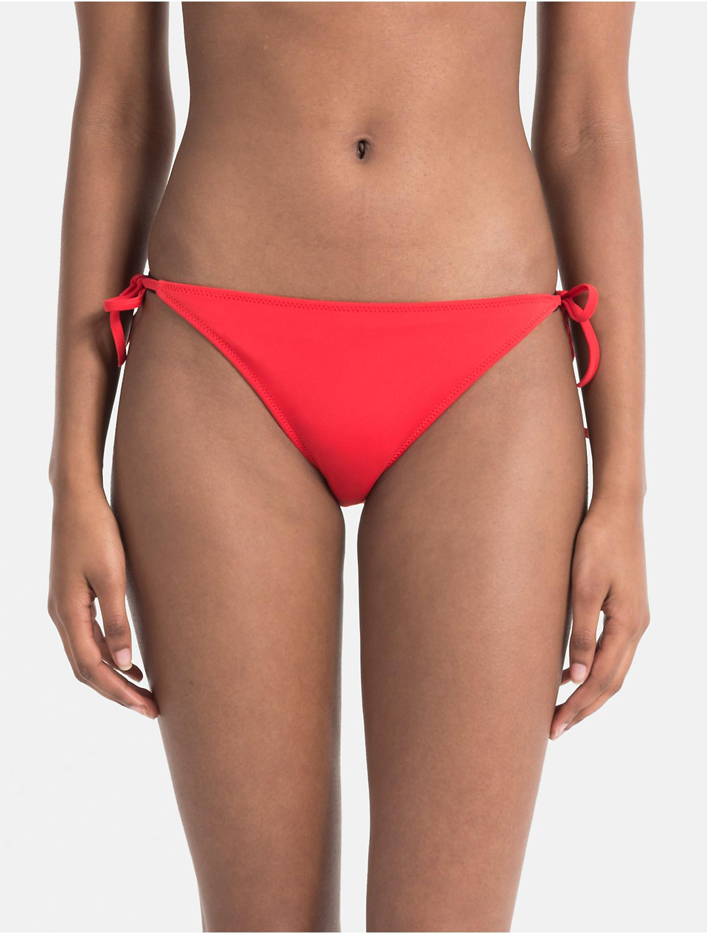 1ca5a3dd0fad6 Lyst - Calvin Klein Intense Power Logo Bikini in Red - Save 64%