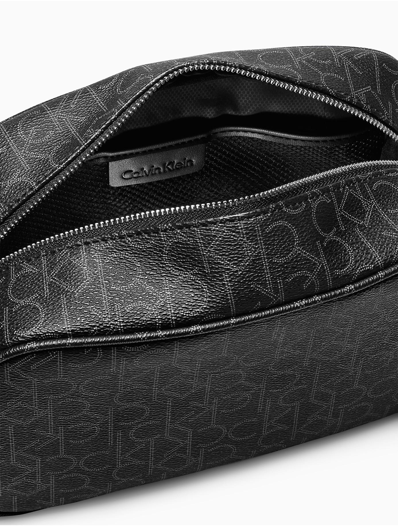 56233188c825 Lyst - Calvin Klein Monogram Dopp Kit in Black - Save ...