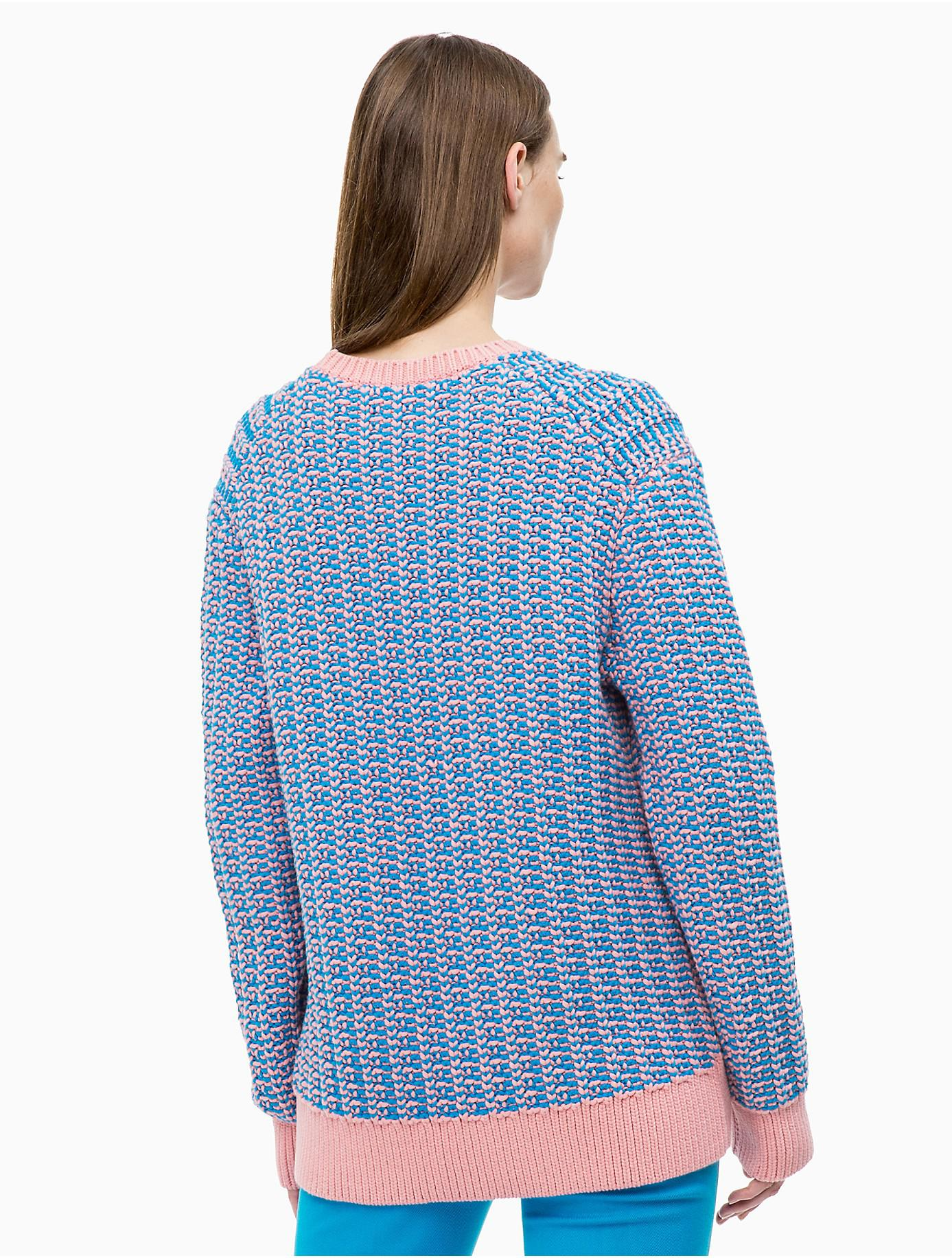 Colorblock In Sweater Lyst Calvin Blue Cotton Klein Blend qfExzYP