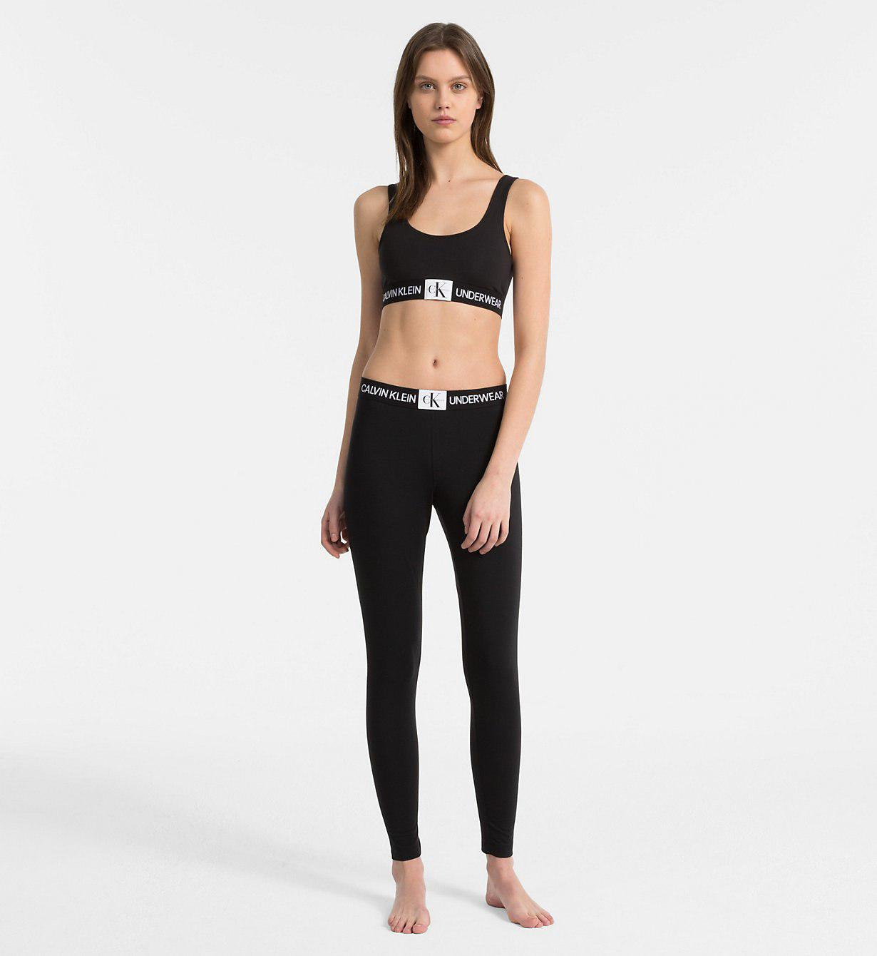 d786ada8718fa Calvin Klein - Black Leggings - Monogram - Lyst. View fullscreen