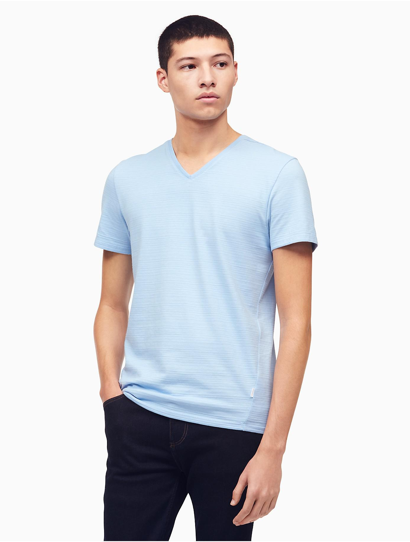 95fa8ac79c99 Lyst - Calvin Klein 205W39Nyc Slim Fit V-neck T-shirt in Blue for ...