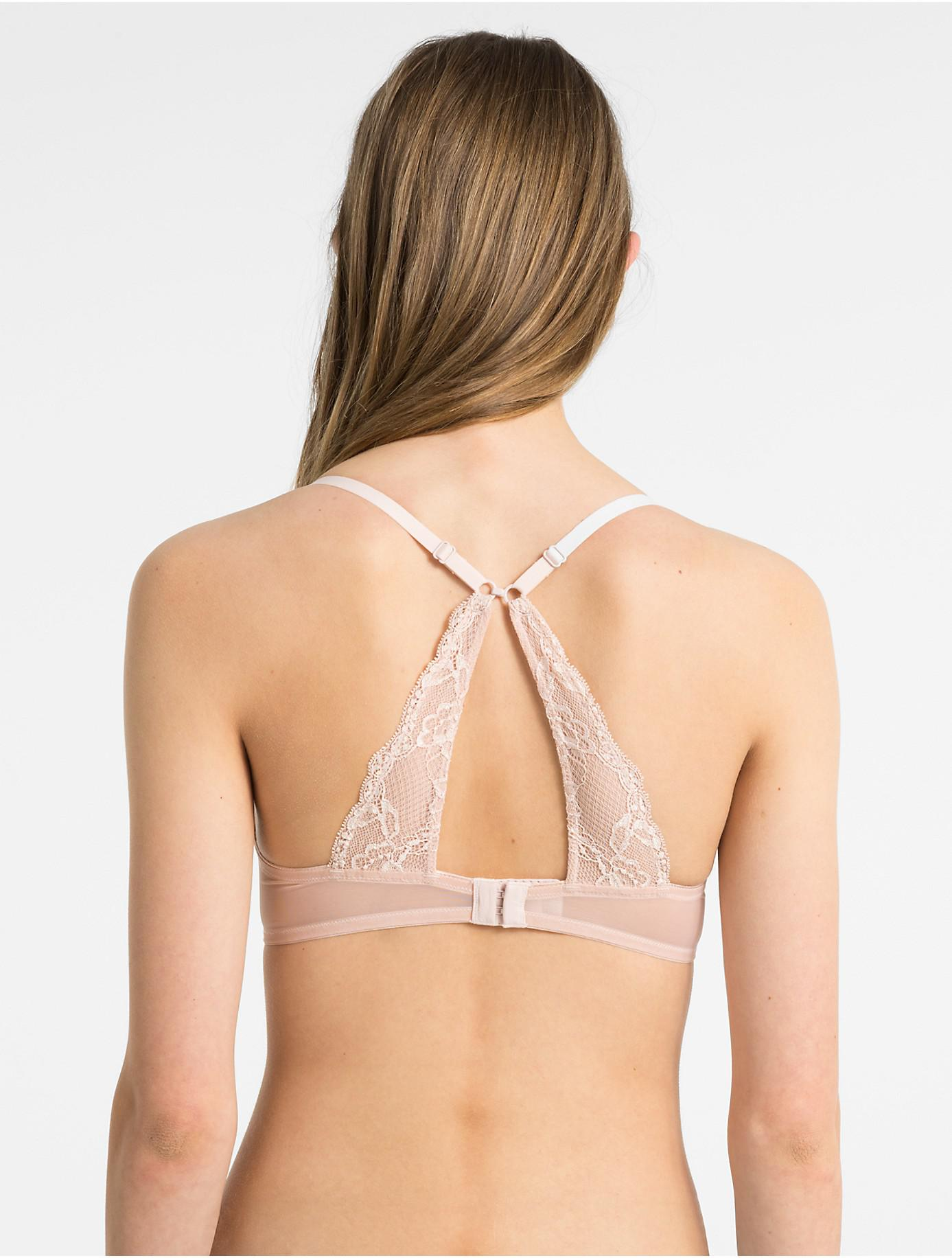 a794f0253e Lyst - Calvin Klein Papillon Lightly Lined Demi Bra in Natural
