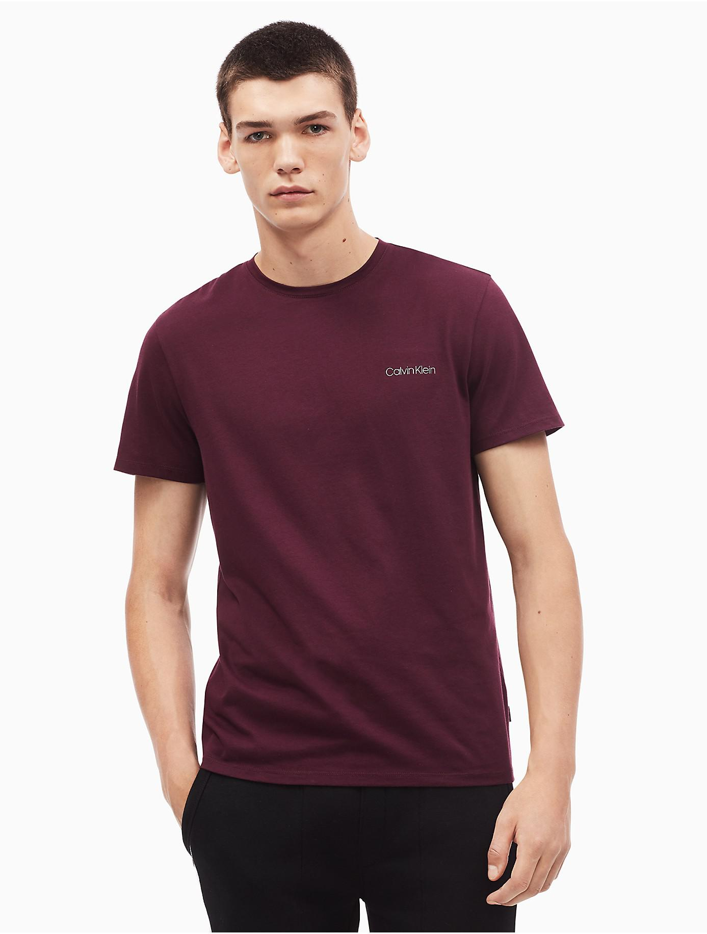 0cad43cf5168 Calvin Klein - Purple Regular Fit Pima Cotton Crewneck Logo T-shirt for Men  -. View fullscreen
