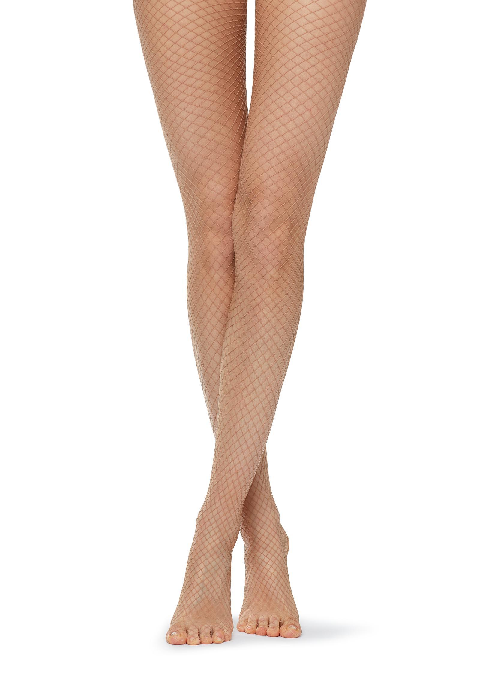 709e146b3f3 Lyst - Calzedonia Fishnet Tights in Natural