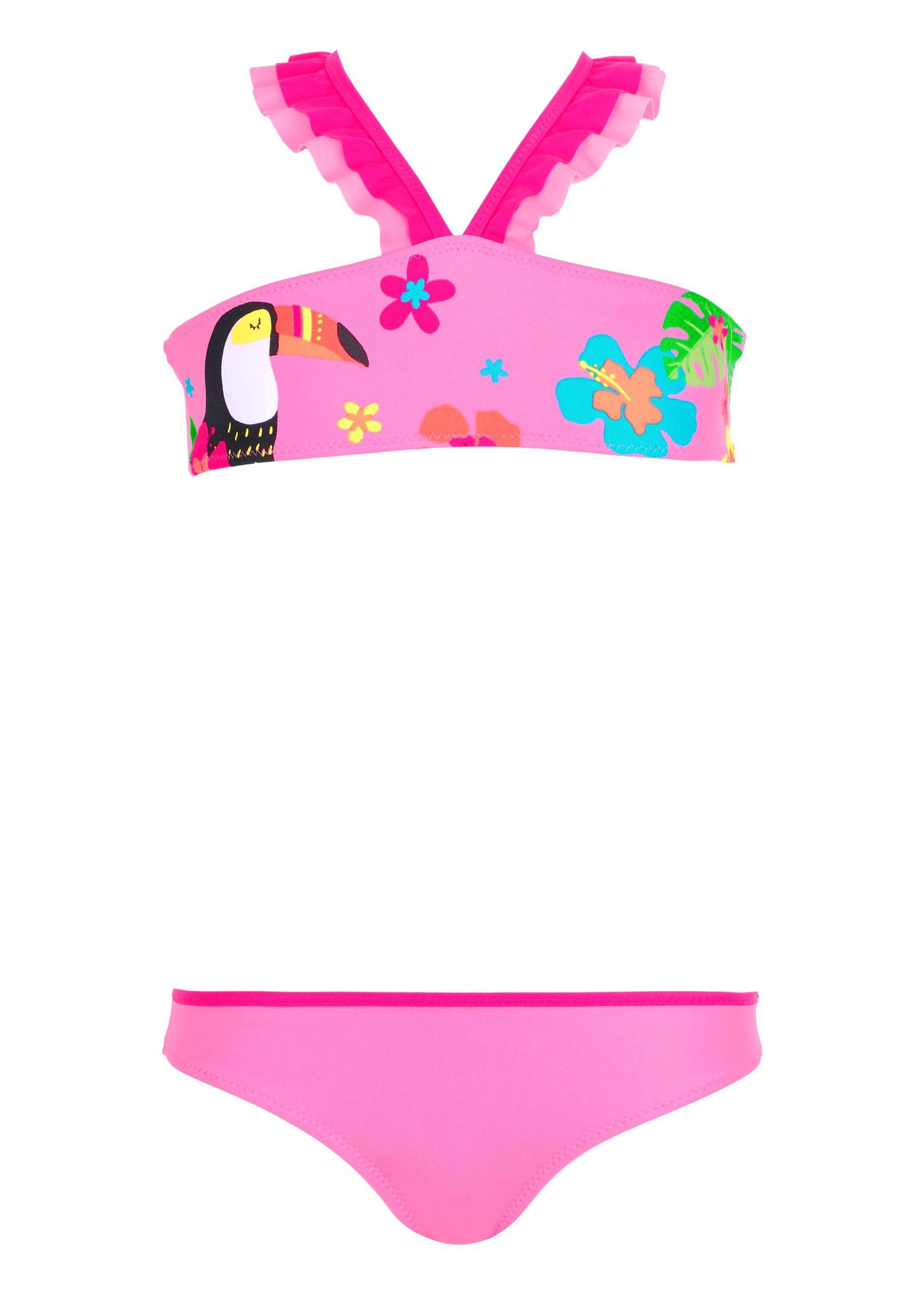 muy genial rendimiento confiable precios de liquidación Lyst - Calzedonia Girls' Bon Bon Flounce Bikini