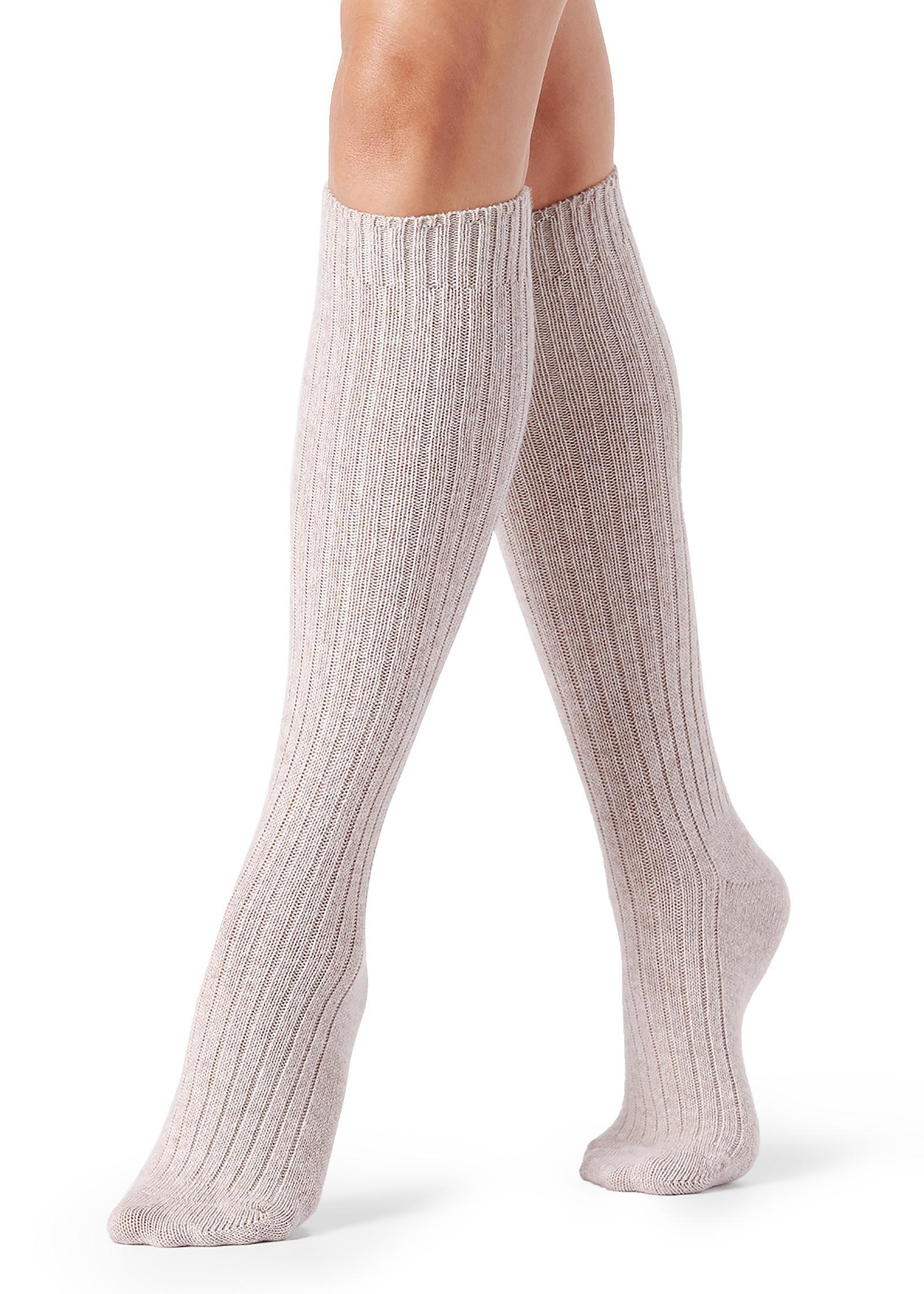 0c4534874 Lyst - Calzedonia Tall Ribbed Socks With Wool And Cashmere