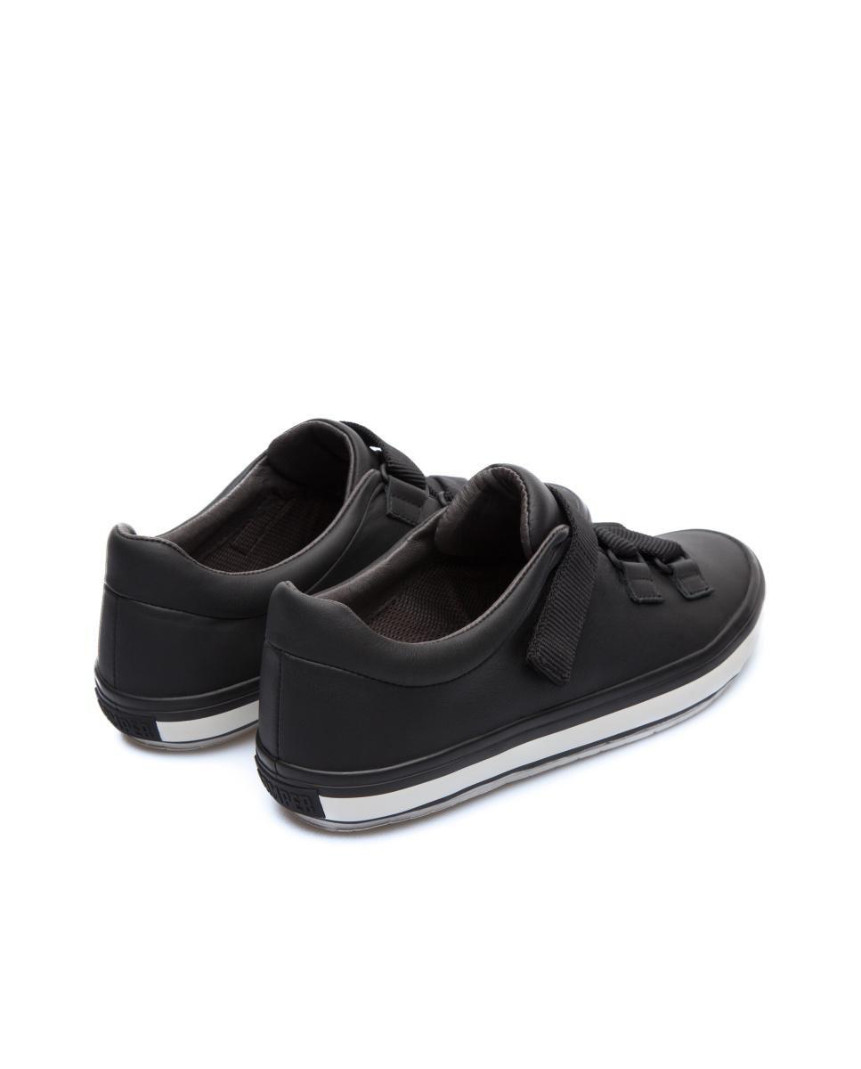 Camper Leather Sneakers Women Portol in Black