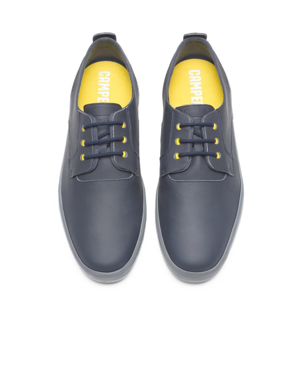 Camper Leather Formal Shoes Men Jim in Blue for Men