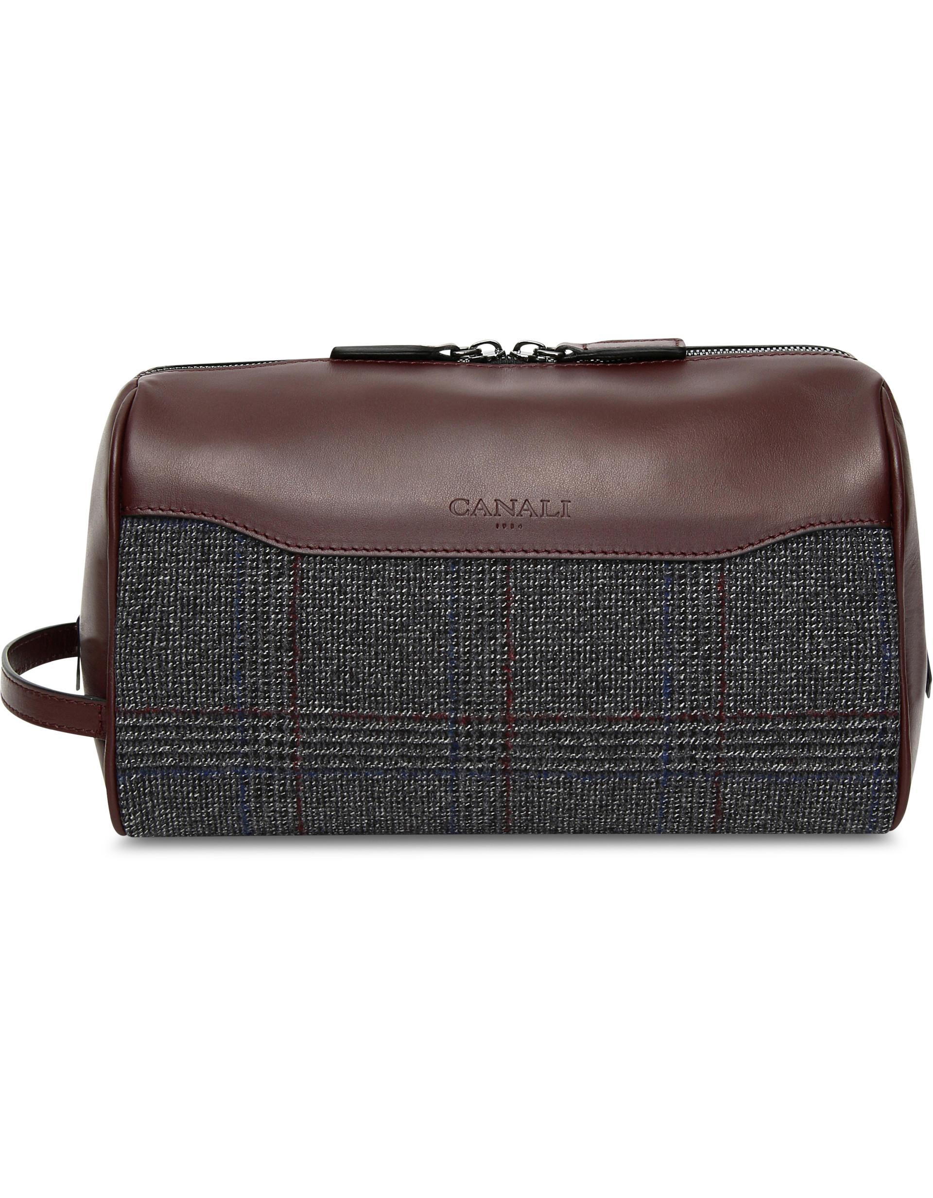 3c8c72d3c71 ... Toiletry Travel Bag With Checked Wool Insert for Men - Lyst. View  fullscreen
