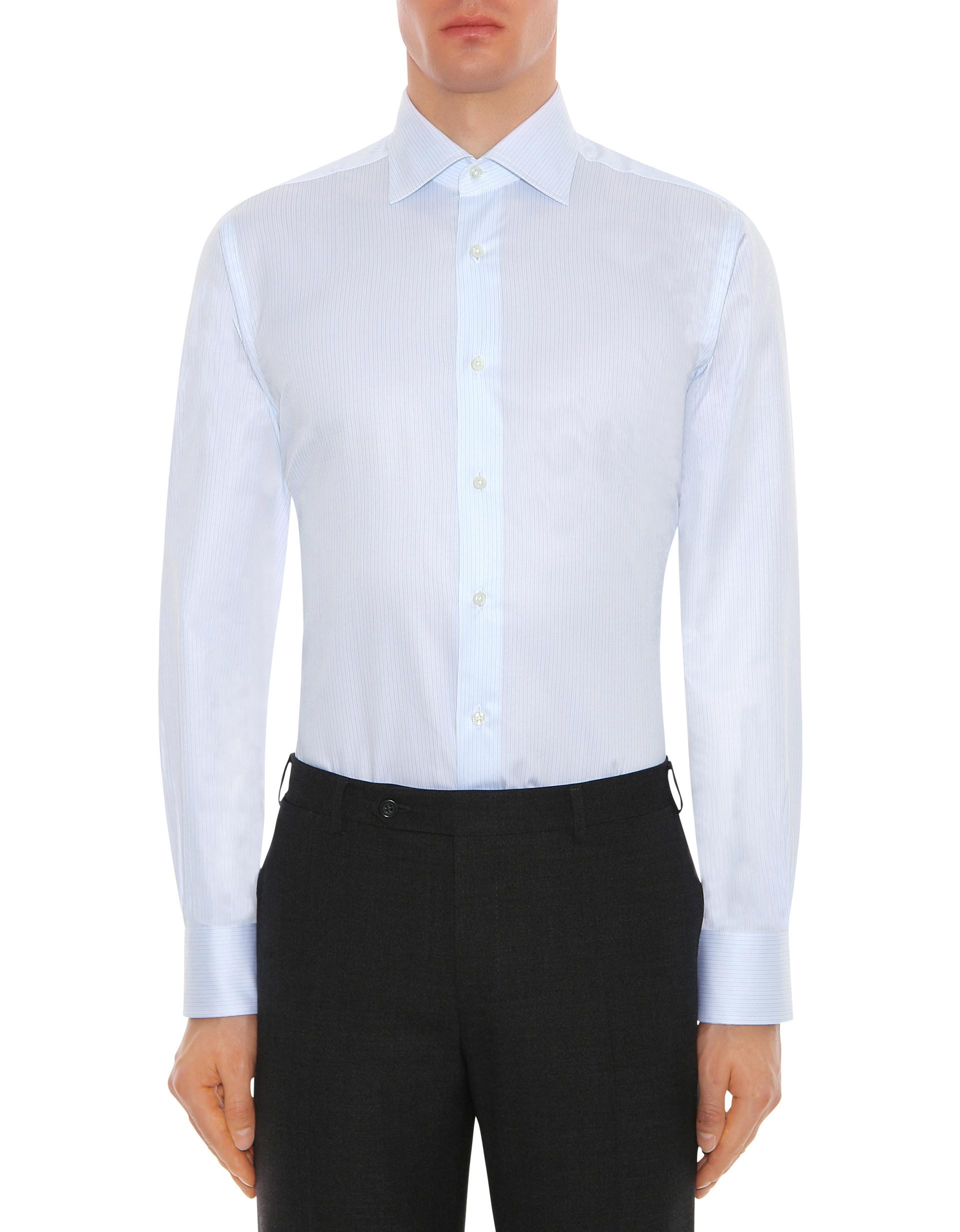 Lyst Canali Exclusive Cotton Dress Shirt With Light Blue
