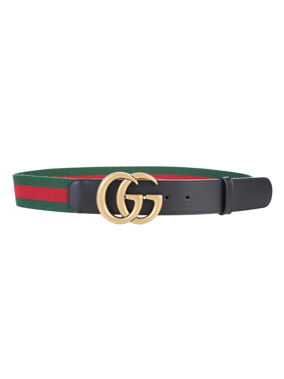 6696ff078f7 Gucci Green   Red Web Gg Belt in Green - Save 2% - Lyst