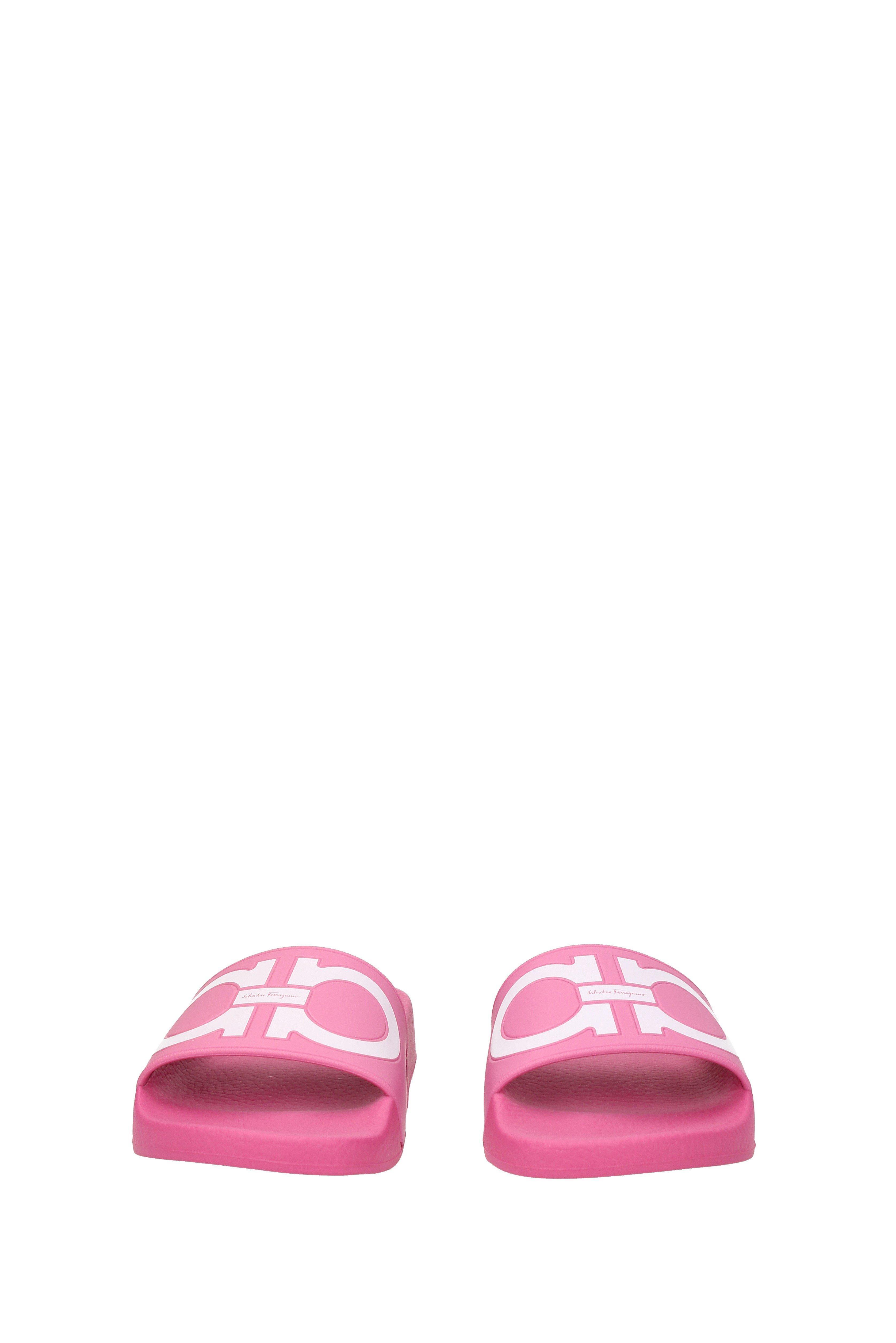 f8f90b976209 Ferragamo - Pink Groove Slide Sandal - Lyst. View fullscreen