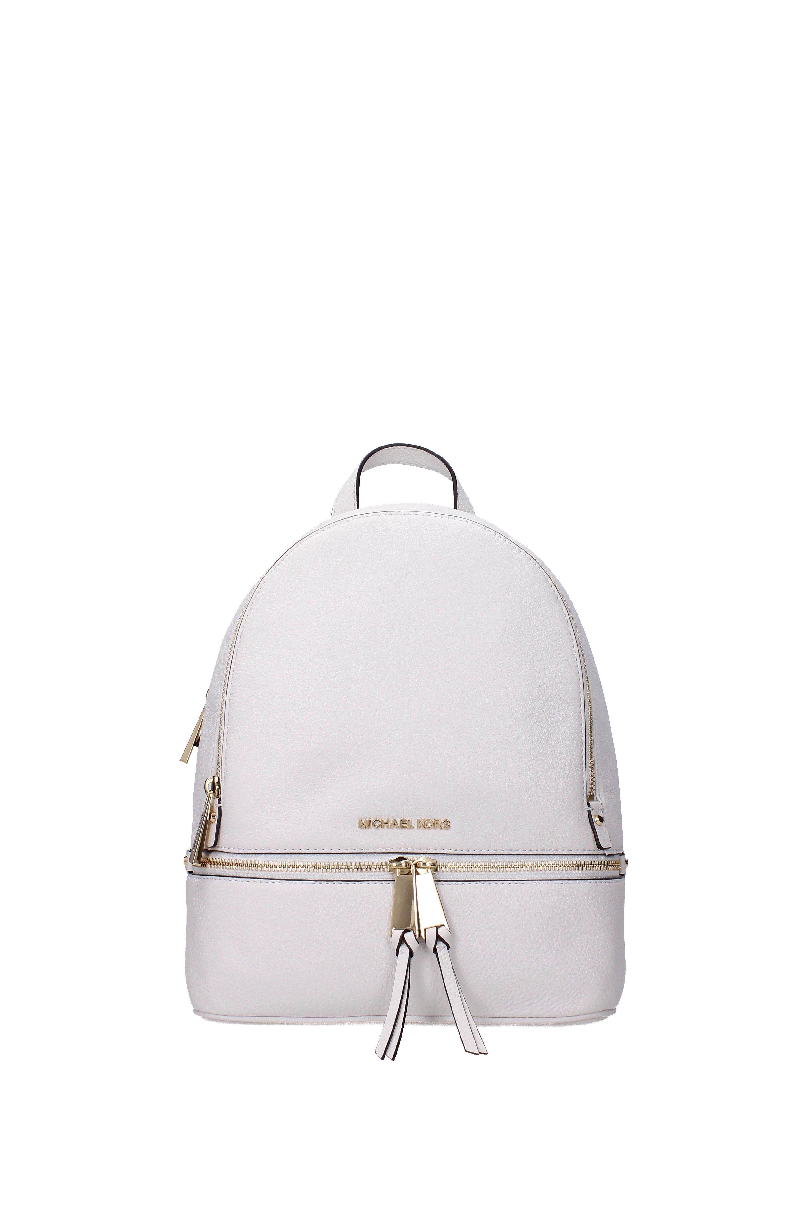 d713b60d8aa2 Michael Kors - Backpacks And Bumbags Rhea Zip Md Women White - Lyst. View  fullscreen