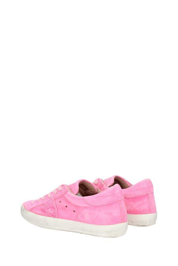 Philippe Model Leather Sneakers Paris in Pink