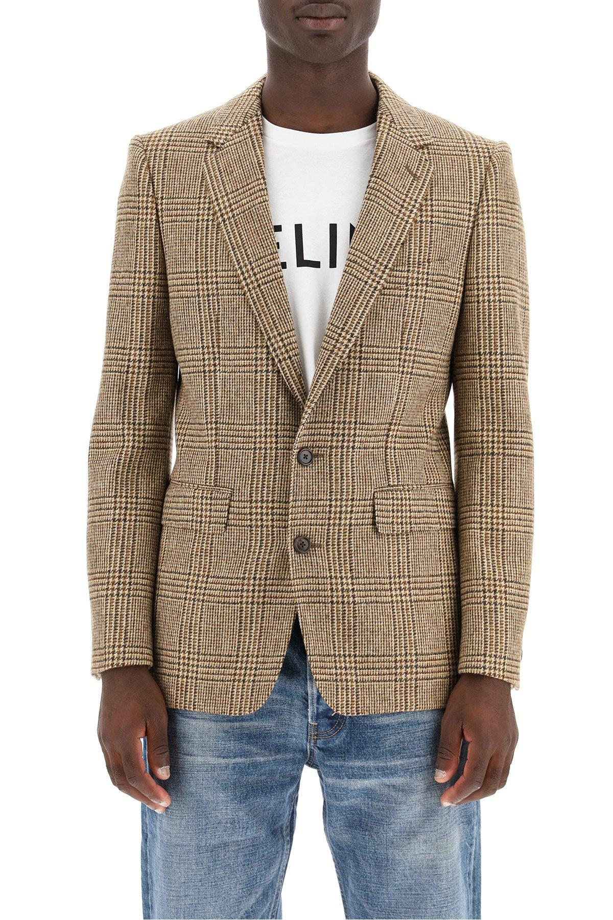 Prince of Wales men/'s blazer  Prince of Wales women/'s blazer  Vintage women/'s jacket  Vintage jacket with green straps
