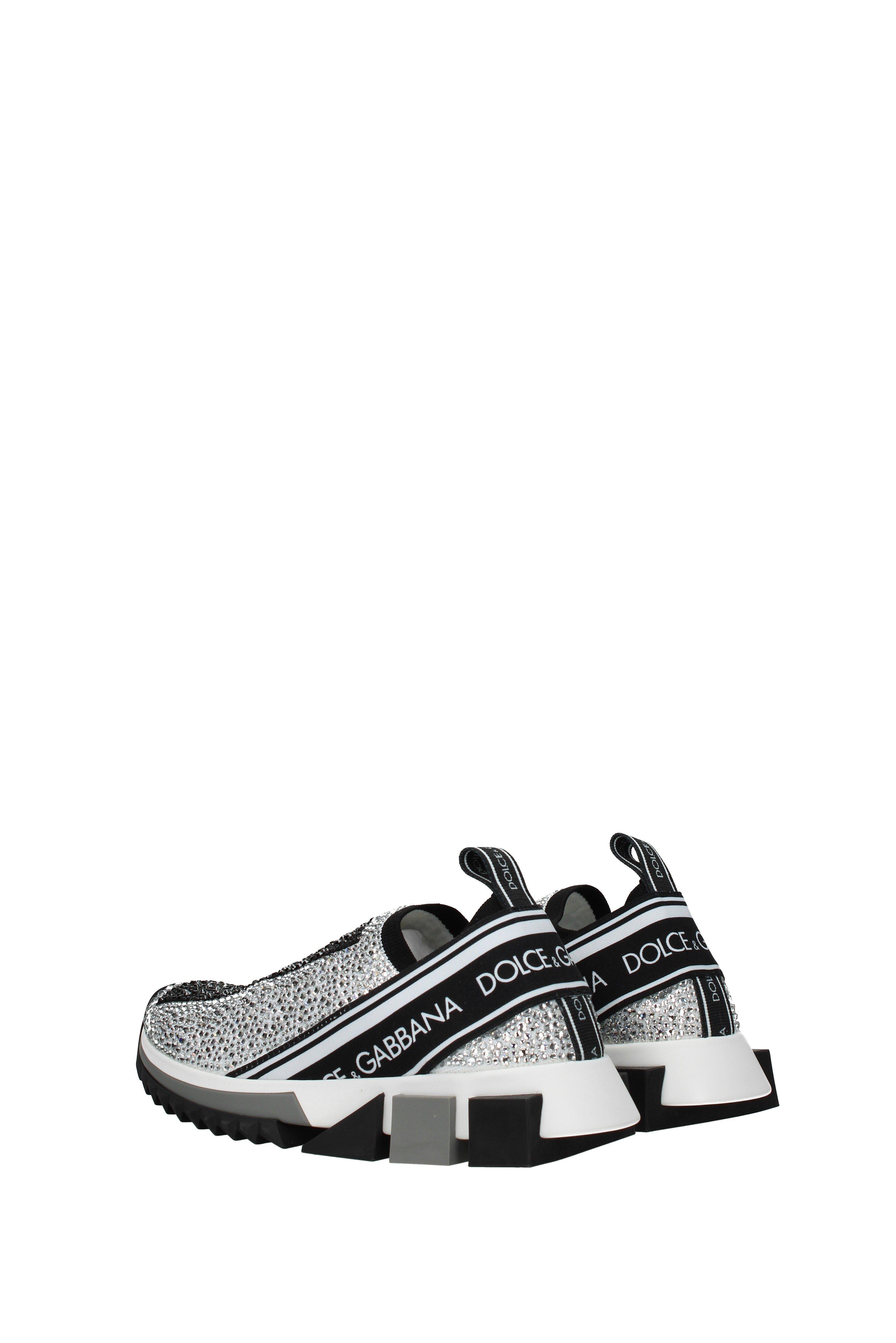 16dd28885 Dolce & Gabbana Sneakers Sorrento Women Silver in Black - Lyst