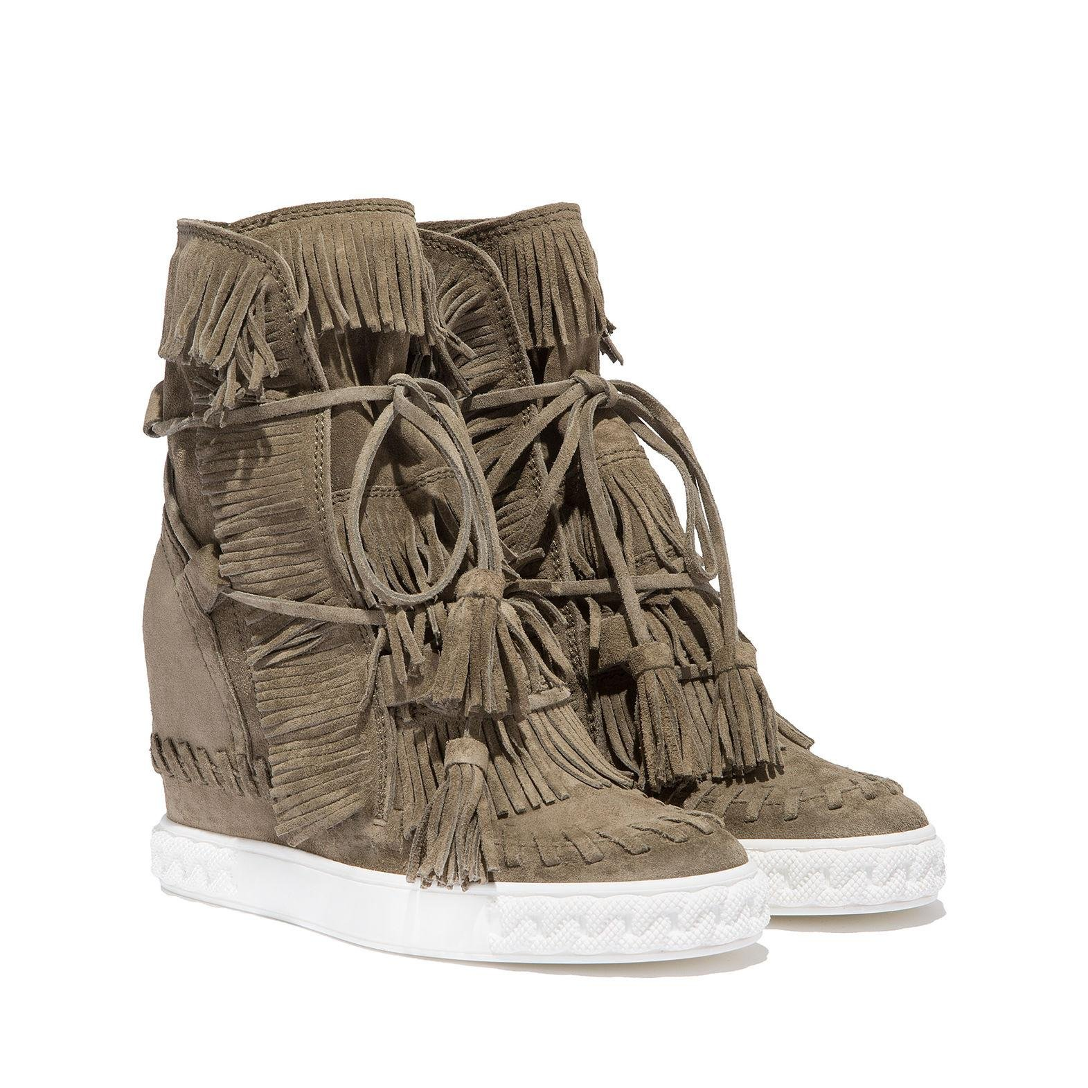 Casadei Suede Sneakers in Brown