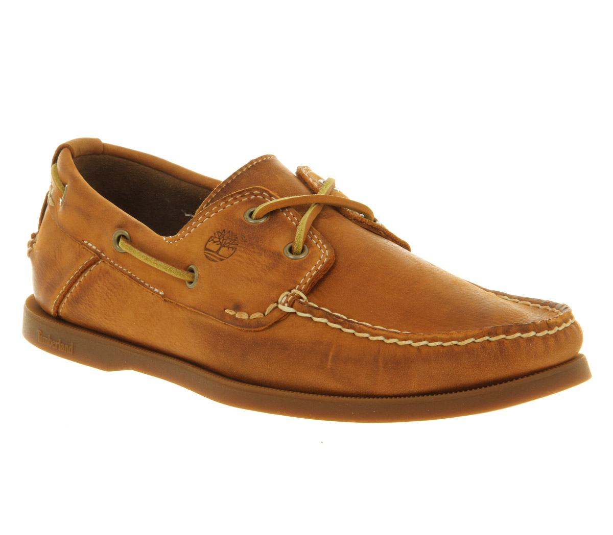 timberland classic 2 eye boat shoe in brown for lyst