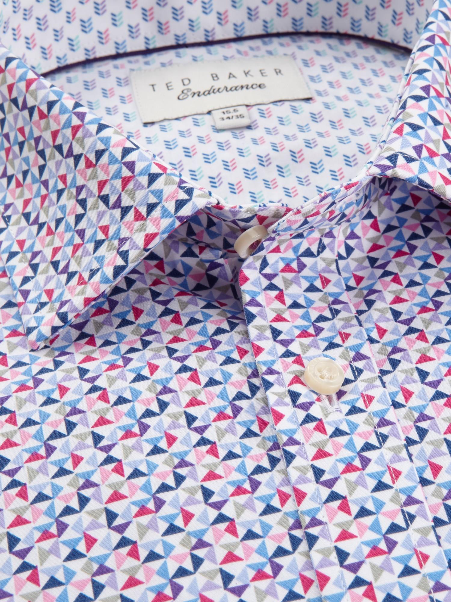 Ted Baker Blue Qasim Triangle Print Shirt for men