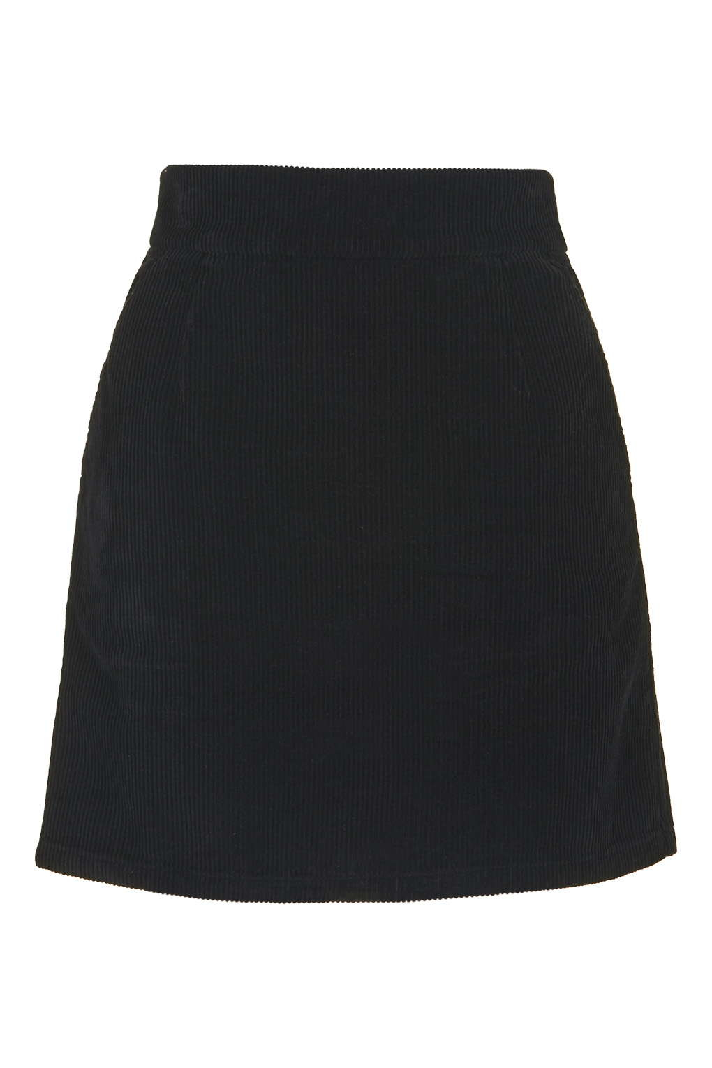 topshop moto cord a line skirt in black lyst