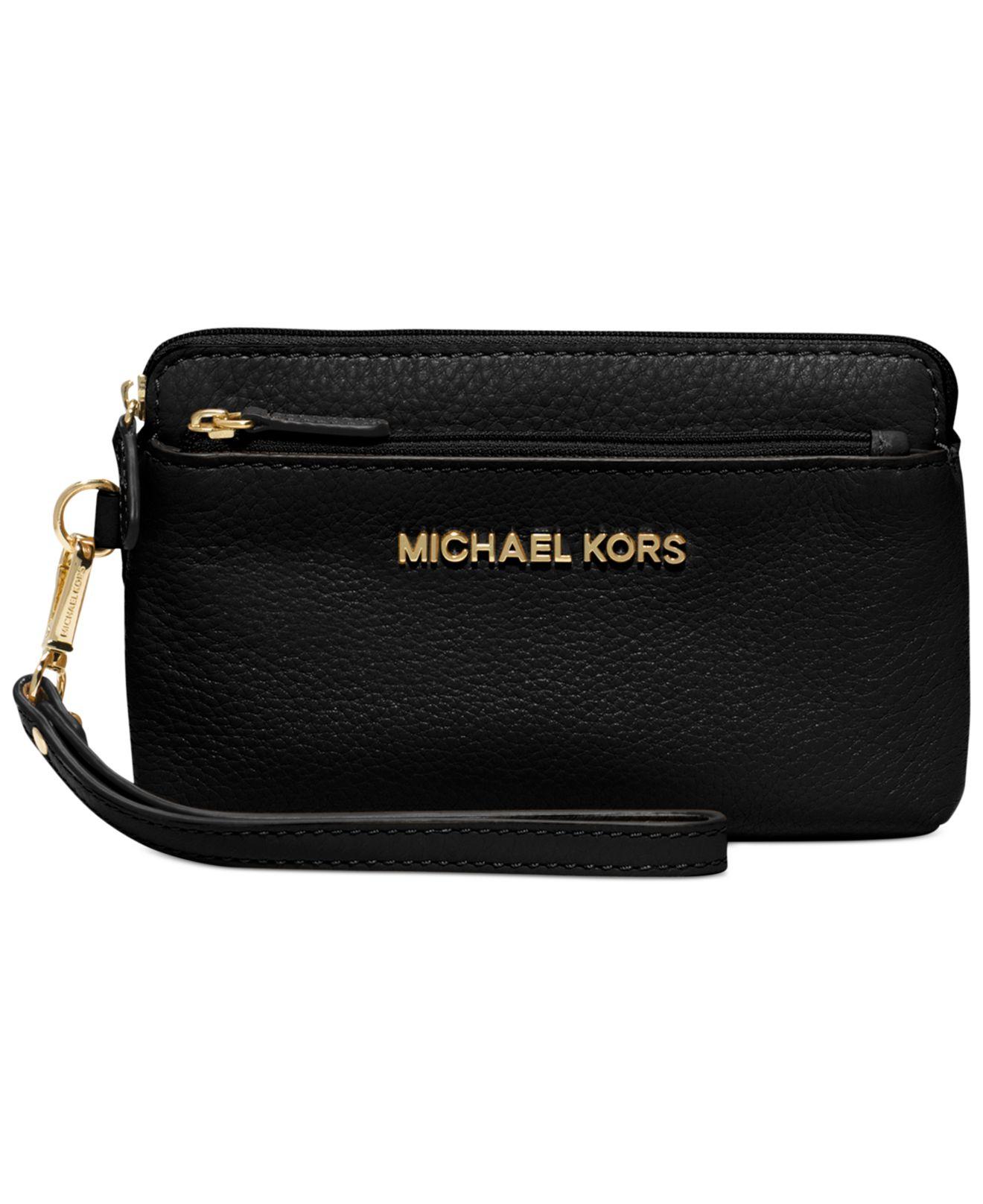 Black Michael Kors Iphone Wristlet