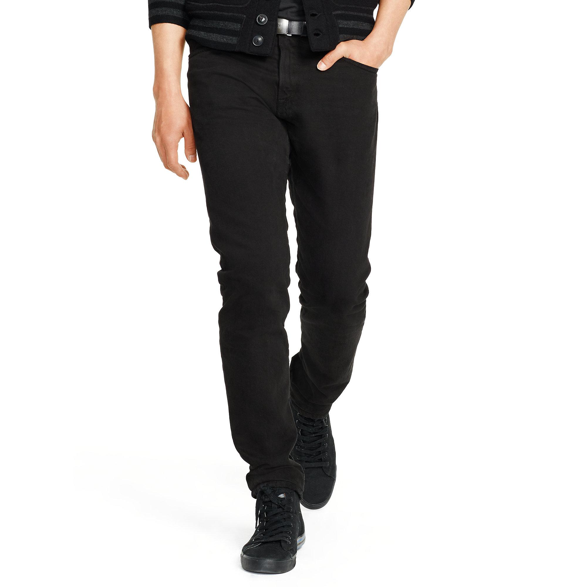 polo ralph lauren sullivan slim fit jean in black for men. Black Bedroom Furniture Sets. Home Design Ideas