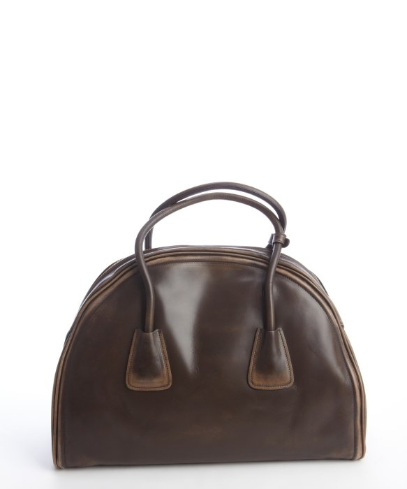 Prada Pre-owned Coffee Distressed Vintage Calfskin Bowler Bag in ...