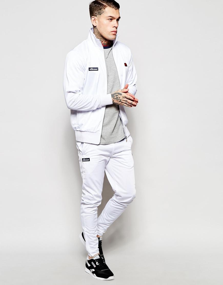 Lyst Ellesse Track Jacket In White For Men