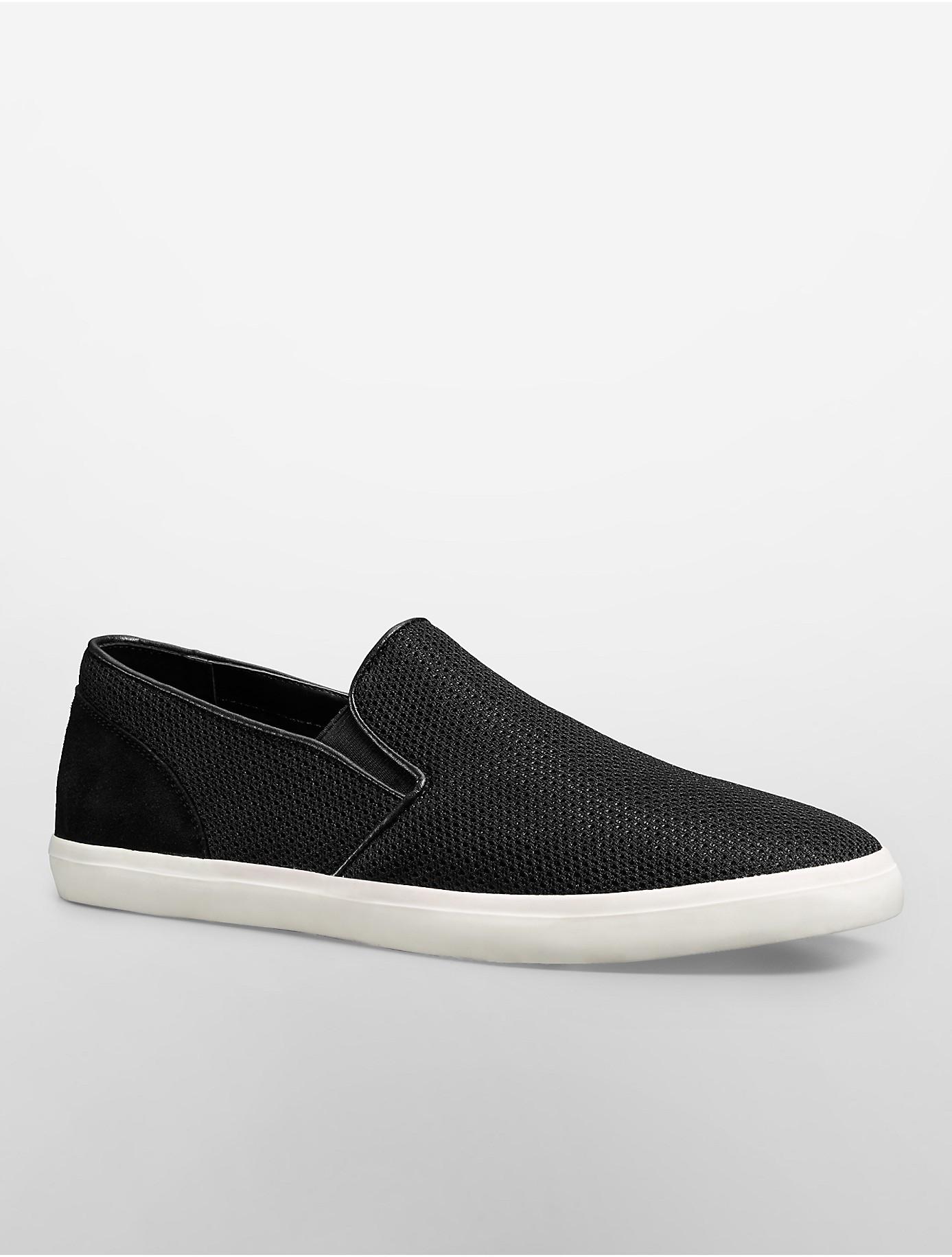 outlet store new arrival top quality Calvin Klein White Label Porter Mesh Slip-On in Black for Men - Lyst