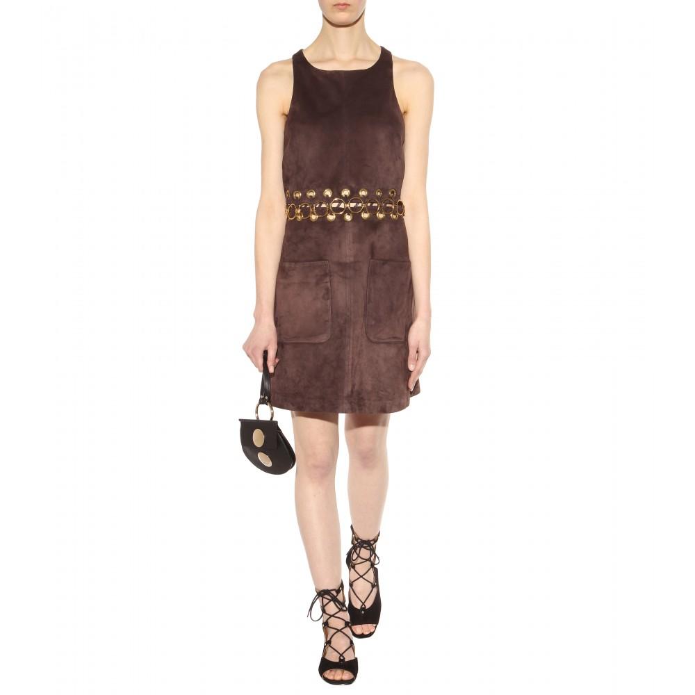 chlo faye mini leather shoulder bag in black lyst. Black Bedroom Furniture Sets. Home Design Ideas