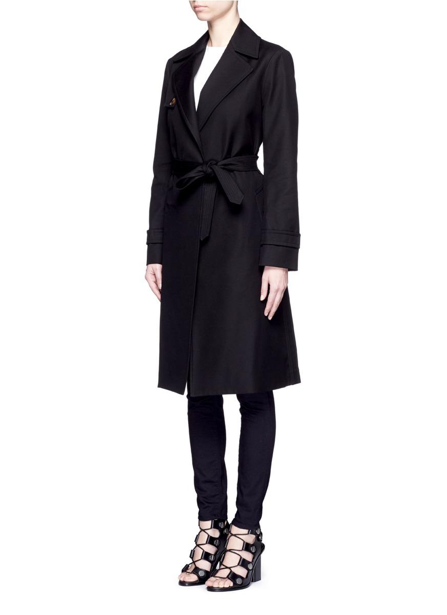separation shoes 70aa7 ef7a4 Women's Black Cotton Herringbone Trench Coat